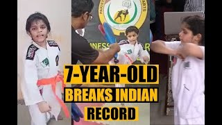 Master Rashid Naseem's 7-year-old daughter also broke India's record
