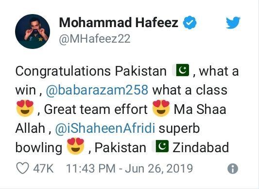hafeez tweet